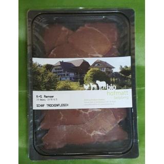 SchafTrockenfleisch geschnitten